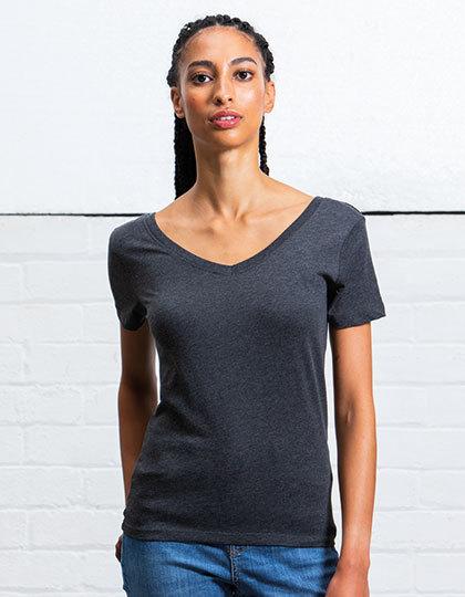 Shirt mit V und U Ausschnitt Damen Women/'s Scoop Back V Organische Baumwolle